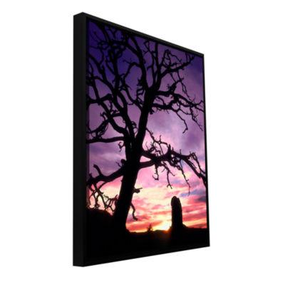 Brushstone Maze Sunset Canyonlands Gallery WrappedFloater-Framed Canvas Wall Art