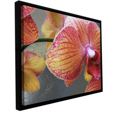 Brushstone Orchid Study Gallery Wrapped Floater-Framed Canvas Wall Art