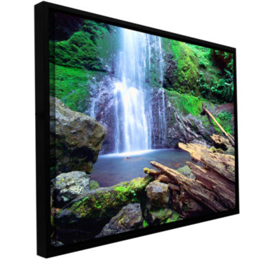 Brushstone Primal Falls Gallery Wrapped Floater-Framed Canvas Wall Art