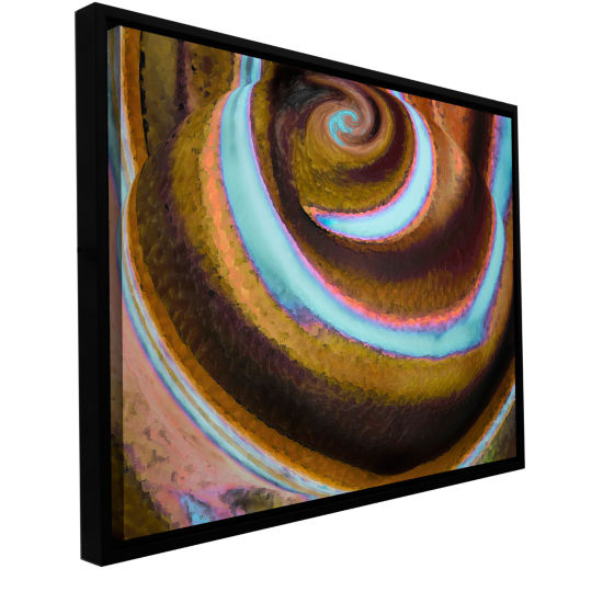 Brushstone Top Down Gallery Wrapped Floater-FramedCanvas Wall Art