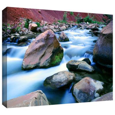 Brushstone Virgin River Dusk Zion Gallery WrappedCanvas Wall Art
