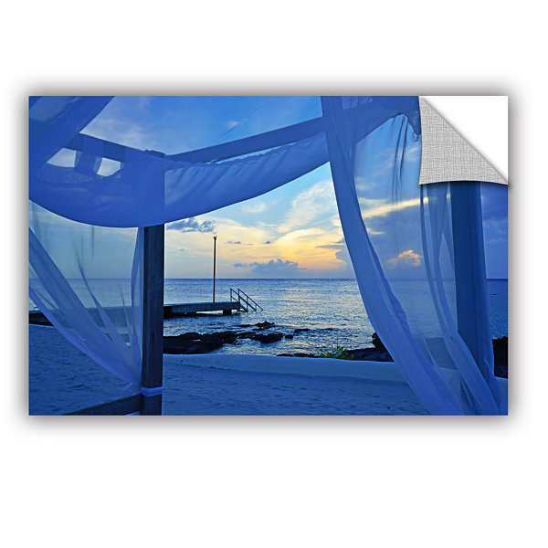 Brushstone Sunset Sea View Removable Wall Decal