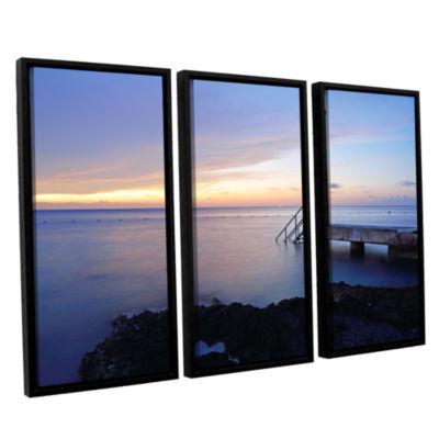Brushstone Twilight Pier 3-pc. Floater Framed Canvas Wall Art
