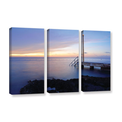 Brushstone Twilight Pier 3-pc. Gallery Wrapped Canvas Wall Art