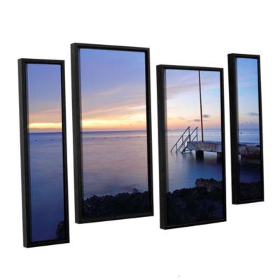 Brushstone Twilight Pier 4-pc. Floater Framed Staggered Canvas Wall Art