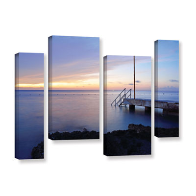 Brushstone Twilight Pier 4-pc. Gallery Wrapped Staggered Canvas Wall Art