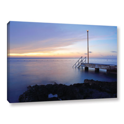 Brushstone Twilight Pier Gallery Wrapped Canvas Wall Art