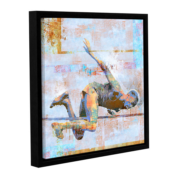 Brushstone Jump Gallery Wrapped Floater-Framed Canvas Wall Art