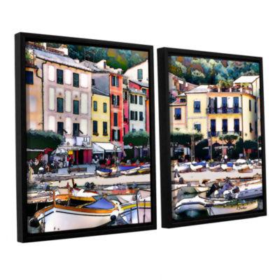 Brushstone Italy: Sunny Portofino 2-pc. Floater Framed Canvas Set