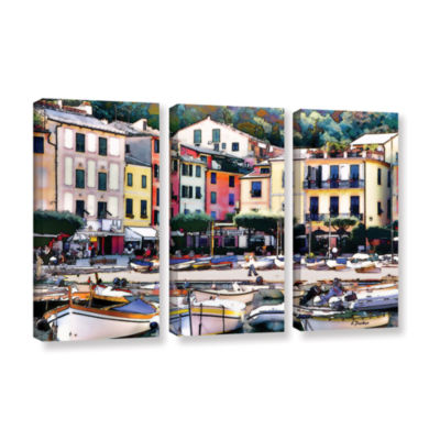 Brushstone Italy: Sunny Portofino 3-pc. Gallery Wrapped Canvas Wall Art
