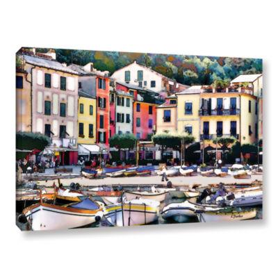 Brushstone Italy: Sunny Portofino Gallery WrappedCanvas