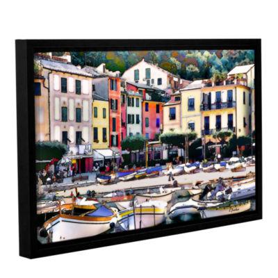 Brushstone Italy: Sunny Portofino Gallery WrappedFloater-Framed Canvas