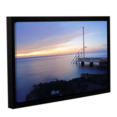 Brushstone Twilight Pier Gallery Wrapped Floater-Framed Canvas Wall Art