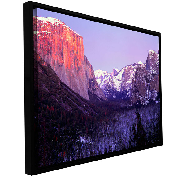 Brushstone Yosemite Valley Winter Gallery WrappedFloater-Framed Canvas Wall Art