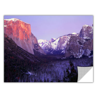 Brushstone Yosemite Valley Winter Removable Wall Decal