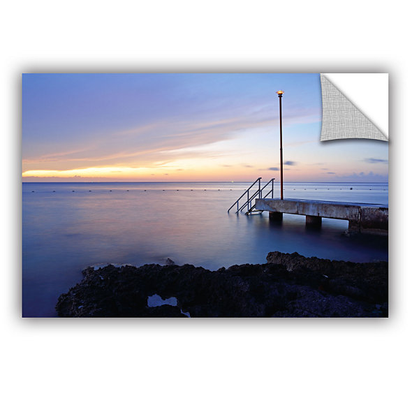 Brushstone Twilight Pier Removable Wall Decal