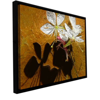 Brushstone Spring Shadows Gallery Wrapped Floater-Framed Canvas Wall Art