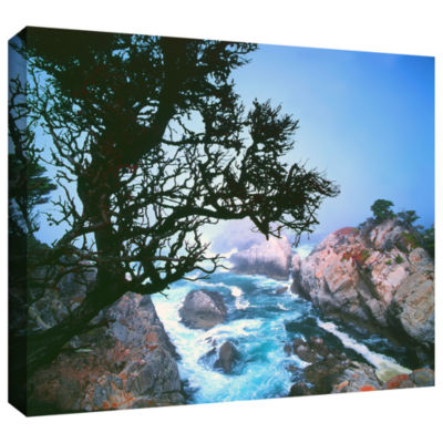 Brushstone Lifting Fog At Cypress Point Gallery Wrapped Canvas Wall Art