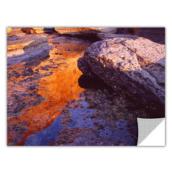 Brushstone Sunset Cliffs Reflection Removable WallDecal