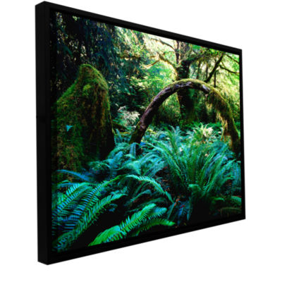 Brushstone Rain Forest Afternoon Gallery Wrapped Floater-Framed Canvas Wall Art