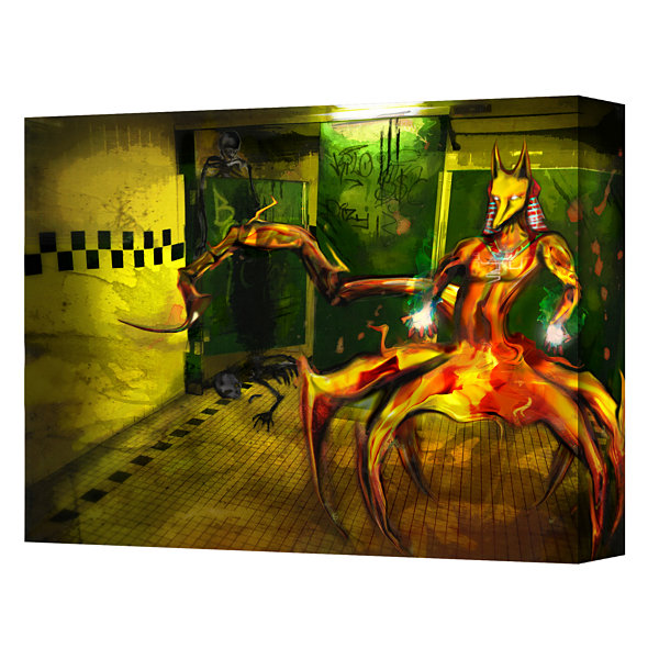 Brushstone Jackal Gallery Wrapped Canvas