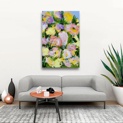 Brushstone Jal Mahal Garden Gallery Wrapped Canvas
