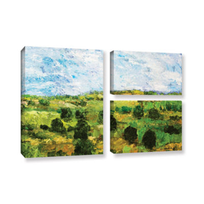 Brushstone Just Roll Along 3-pc. Flag Gallery Wrapped Canvas Wall Art