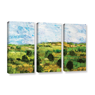 Brushstone Just Roll Along 3-pc. Gallery Wrapped Canvas Wall Art