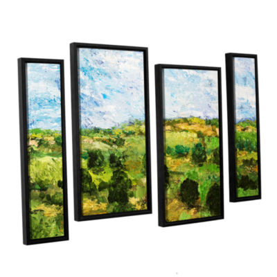 Brushstone Just Roll Along 4-pc. Floater Framed Staggered Canvas Wall Art