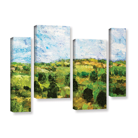 Brushstone Just Roll Along 4-pc. Gallery Wrapped Staggered Canvas Wall Art