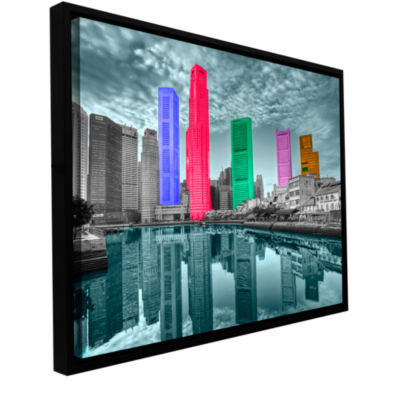 Brushstone Jamaica Gallery Wrapped Floater-FramedCanvas