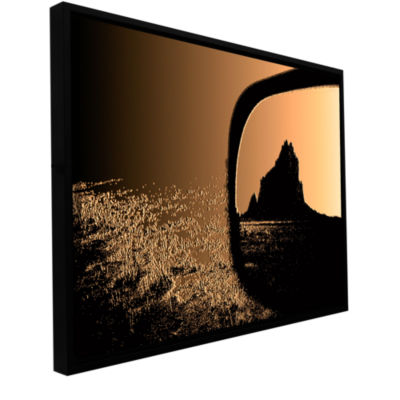 Brushstone Shiprock Gallery Wrapped Floater-FramedCanvas Wall Art