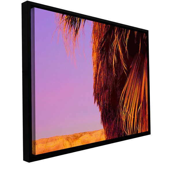 Brushstone Twilight Palm Borrego Gallery Wrapped Floater-Framed Canvas Wall Art