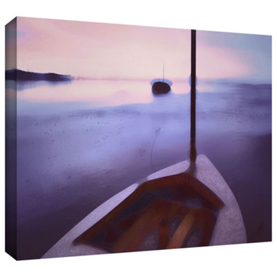 Brushstone Twilight Tide Gallery Wrapped Canvas Wall Art