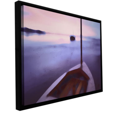 Brushstone Twilight Tide Gallery Wrapped Floater-Framed Canvas Wall Art