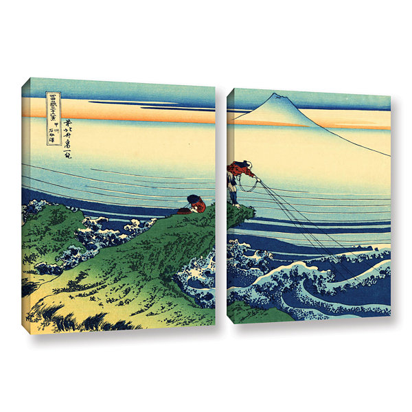 Brushstone Kajikazawa In Kai Province 2-pc. Gallery Wrapped Canvas Wall Art