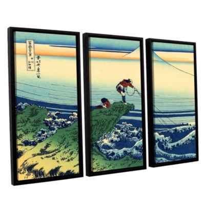 Brushstone Kajikazawa In Kai Province 3-pc. Floater Framed Canvas Wall Art