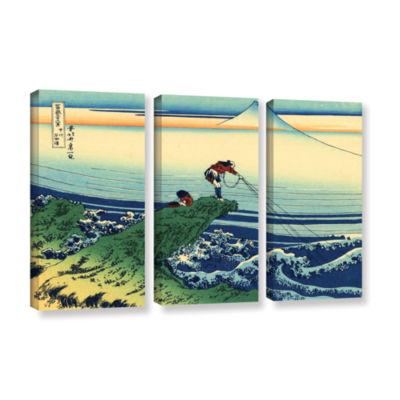 Brushstone Kajikazawa In Kai Province 3-pc. Gallery Wrapped Canvas Wall Art