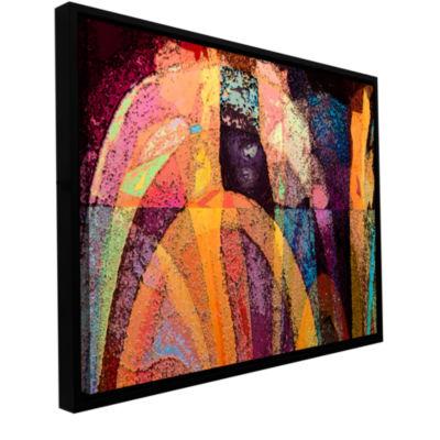 Brushstone Geo-Evolution Gallery Wrapped Floater-Framed Canvas Wall Art