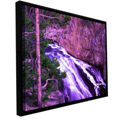 Brushstone Gibbon Fall Dusk Gallery Wrapped Floater-Framed Canvas Wall Art