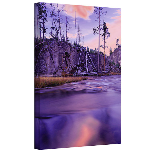 Brushstone Gibbon River Twilight Gallery Wrapped Canvas Wall Art