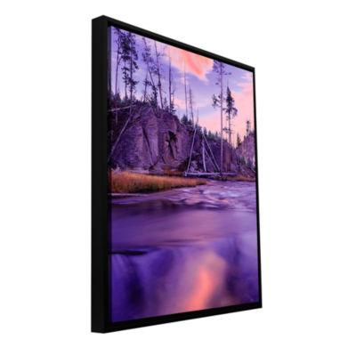 Brushstone Gibbon River Twilight Gallery Wrapped Floater-Framed Canvas Wall Art