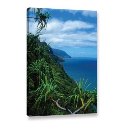 Brushstone Kalulua Trail Kauai Gallery Wrapped Canvas Wall Art