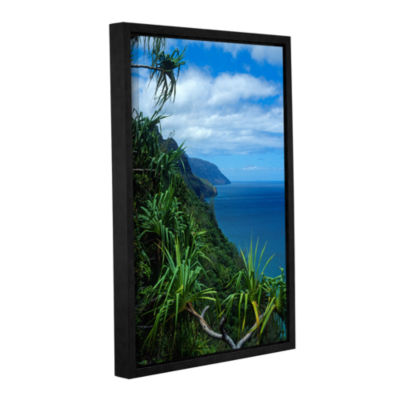Brushstone Kalulua Trail Kauai Gallery Wrapped Floater-Framed Canvas Wall Art