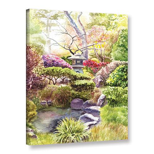 Brushstone Japanese Garden Gallery Wrapped CanvasWall Art