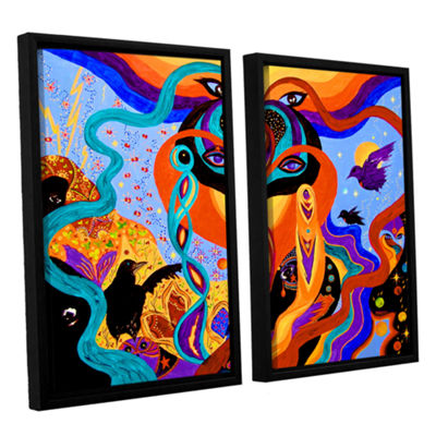Brushstone Karmic Lovers 2-pc. Floater Framed Canvas Wall Art