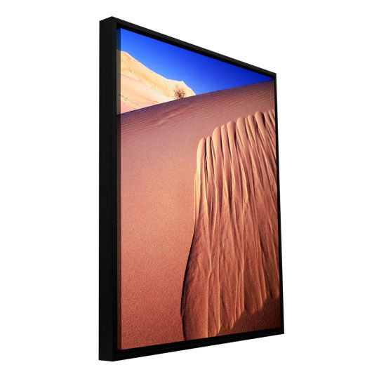 Brushstone Kelso Dunes Erosion Gallery Wrapped Floater-Framed Canvas Wall Art