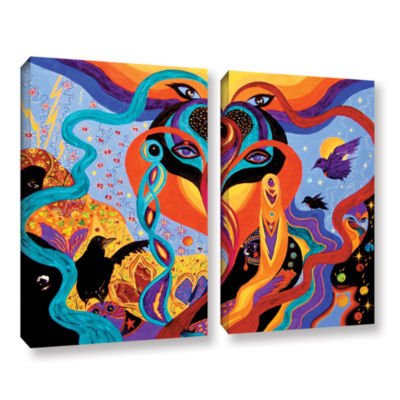 Brushstone Karmic Lovers 2-pc. Gallery Wrapped Canvas Wall Art
