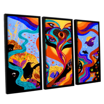 Brushstone Karmic Lovers 3-pc. Floater Framed Canvas Wall Art