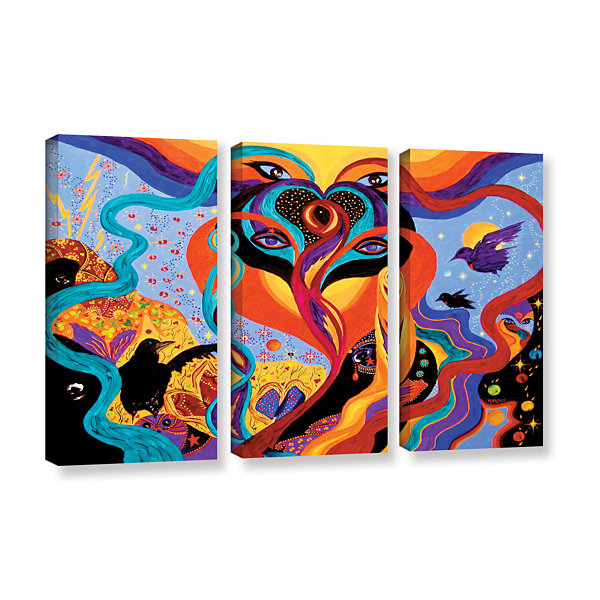 Brushstone Karmic Lovers 3-pc. Gallery Wrapped Canvas Wall Art